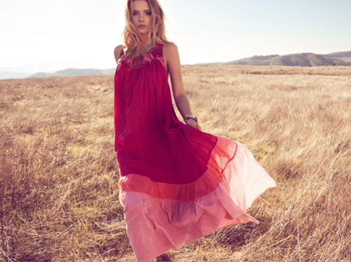 Lily Donaldson for Monsoon S/S 2011 Ad Campaign